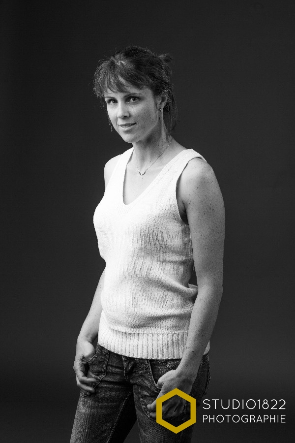 portrait photo femme noir et blanc