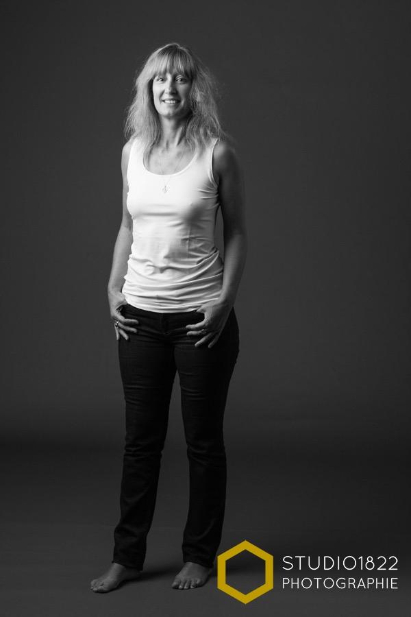 photo noir et blanc portrait de femme