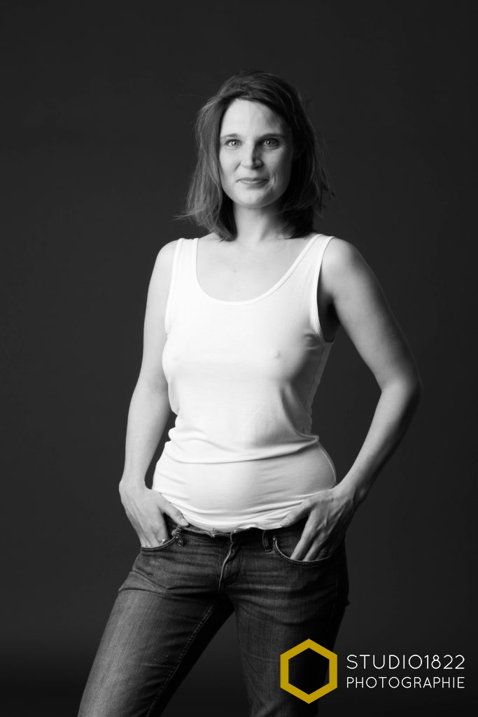 portrait d'une femme par photographe pro
