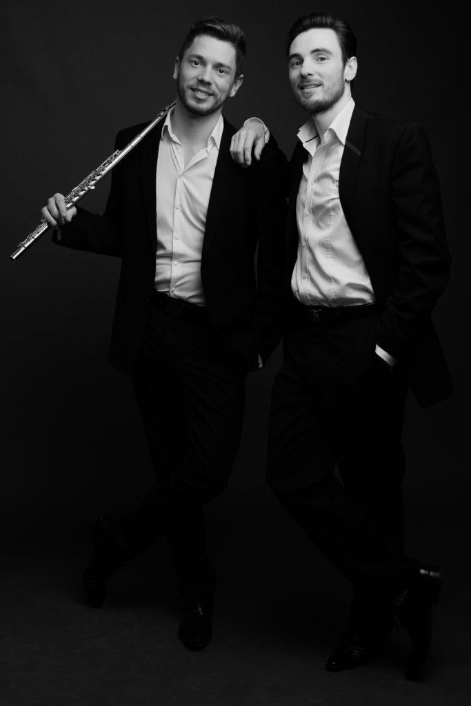 Photographe Lille portrait noir et blanc Duo Aquilon