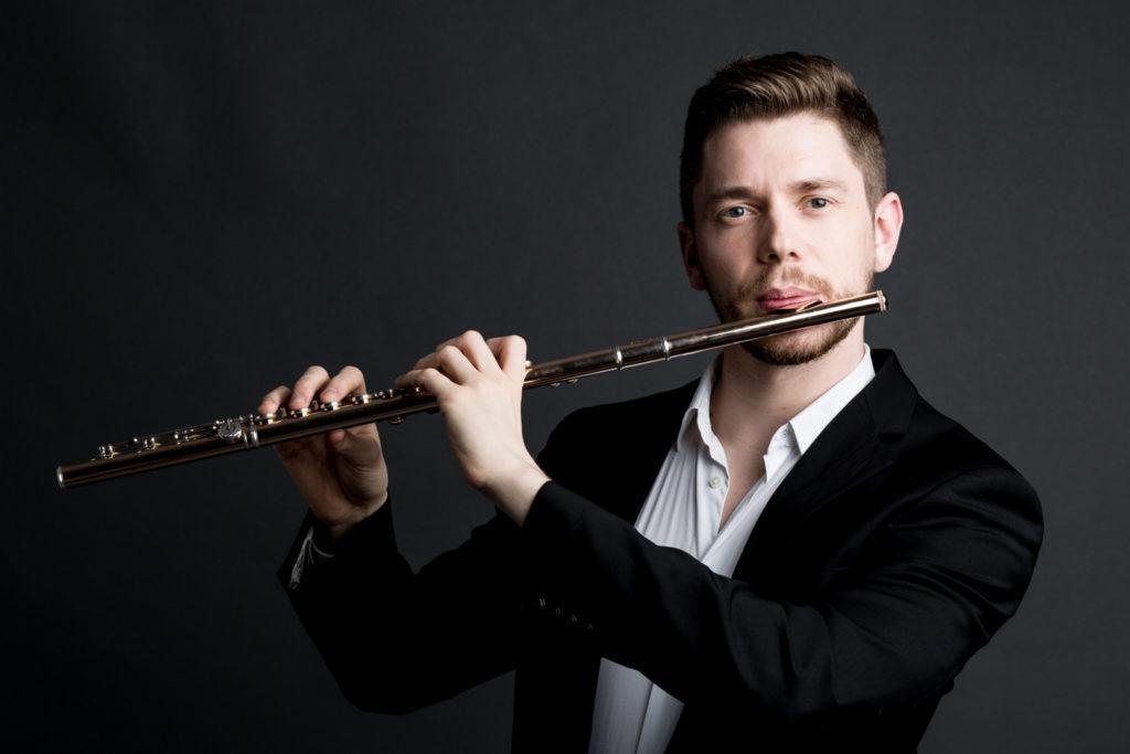 Portrait flutiste par photographe Lille