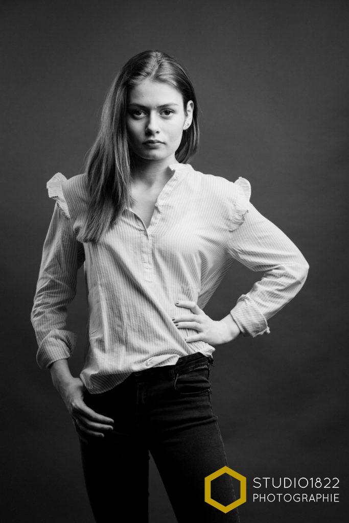 Photographe Lille portrait jeune fille Louise