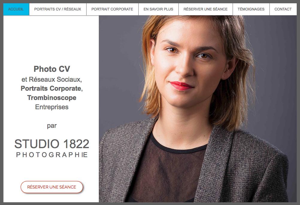 site photographe spécialisé dans la photo de CV
