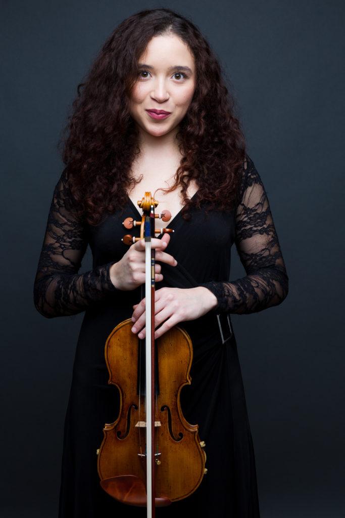 Portrait avec violon