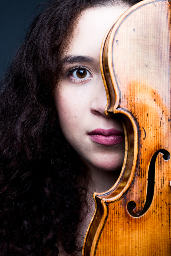 Portrait violoniste close-up