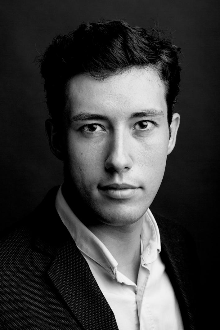 Portrait rapproché en noir et blanc